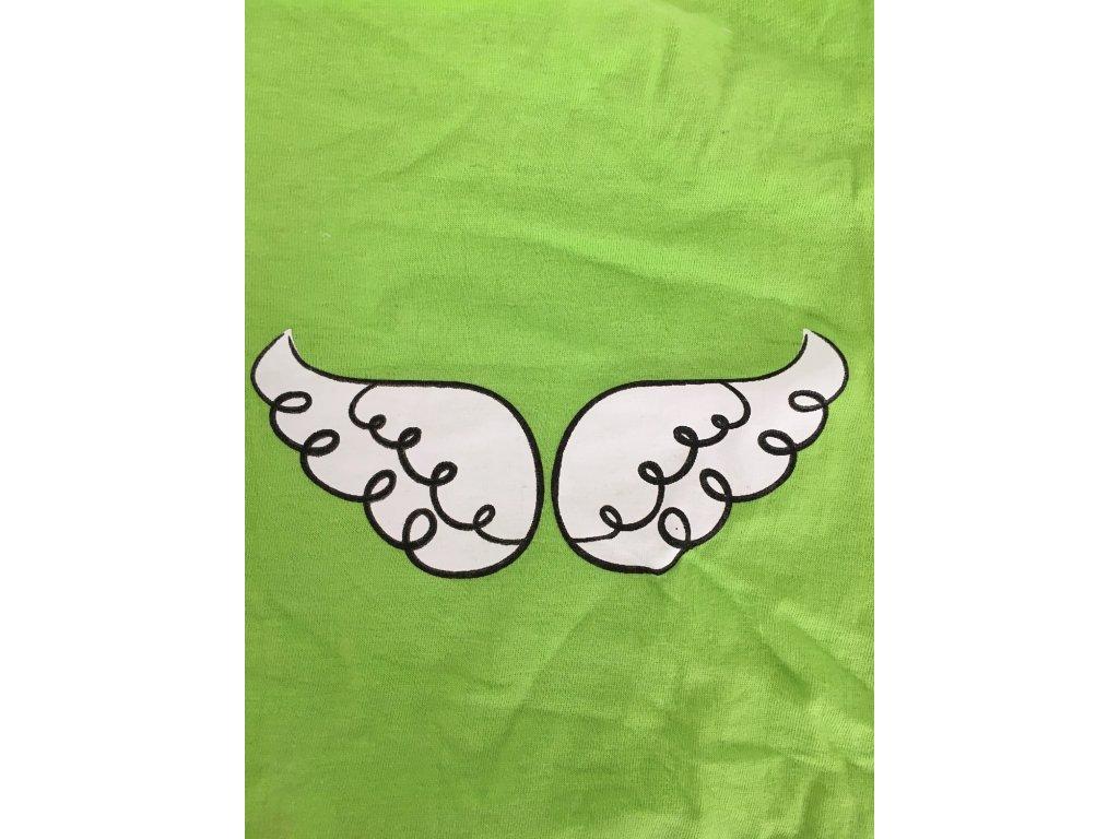 6714ff3ab3a2 Jednoduché limetkové tričko s potiskem pro psy - Hafana