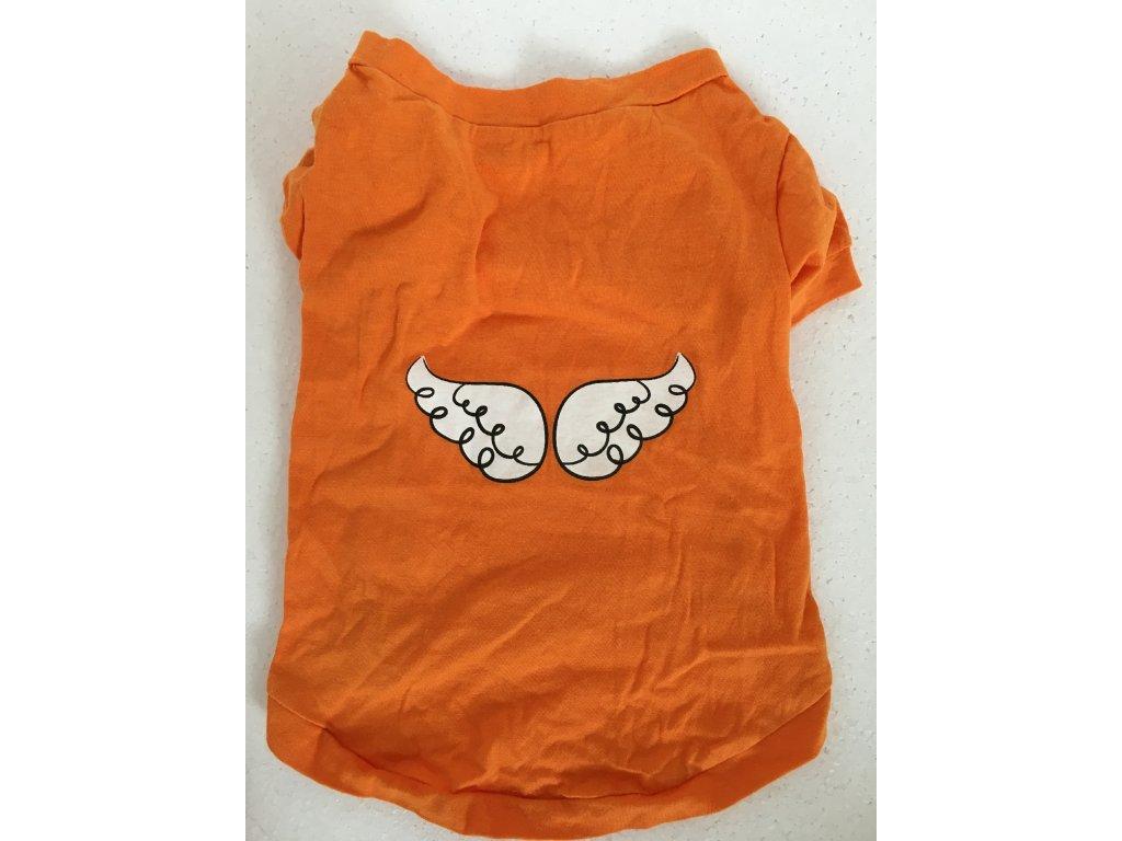 3665bb0740d0 Jednoduché oranžové tričko s potiskem pro psy - Hafana