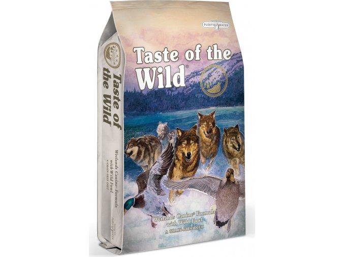 Taste of the Wild Wetlands Wild Fowl kachna, křepelka, kuře 12,2kg