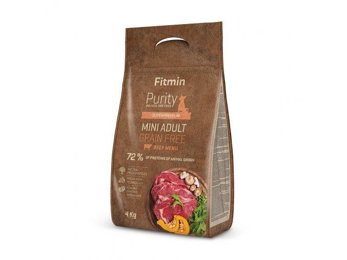 fitmin dog purity gf adult mini beef 4 kg h L