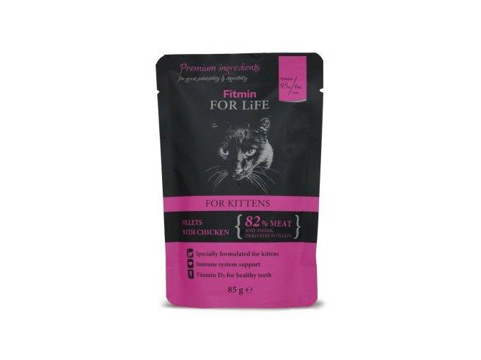 Fitmin for Life masová kapsička pro kočky Kitten Chicken 85 g