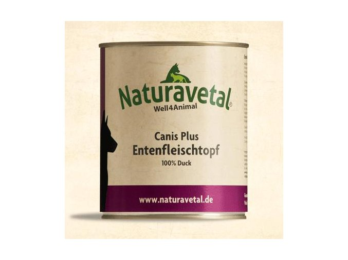 Naturavetal Canis Plus konzerva Kachní maso