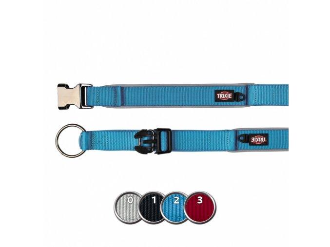 Obojek EXPERIENCE extra široký XS 26-33 cm/20 mm,  - modrý