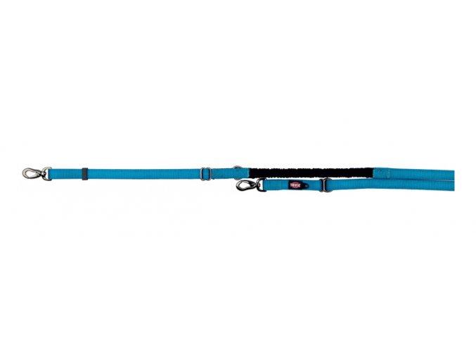 Vodítko EXPERIENCE prodl.s tlumičem tahu L-XL2,20-2,40m/25mm,  - modré