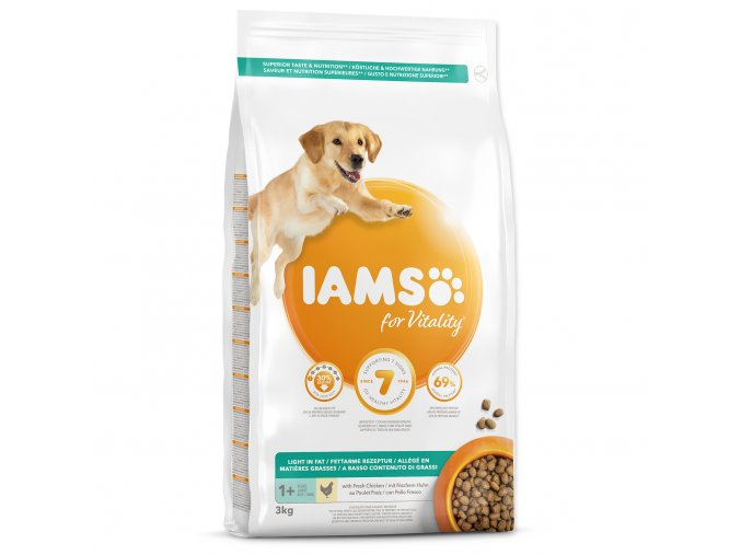 IAMS Dog Adult Weight Control Chicken kuřecí, krůtí pro tlusťochy a starší psy 3kg