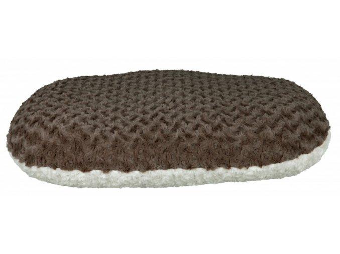 Oválný polštář Kaline krémovo/šedý 70 x 47 cm