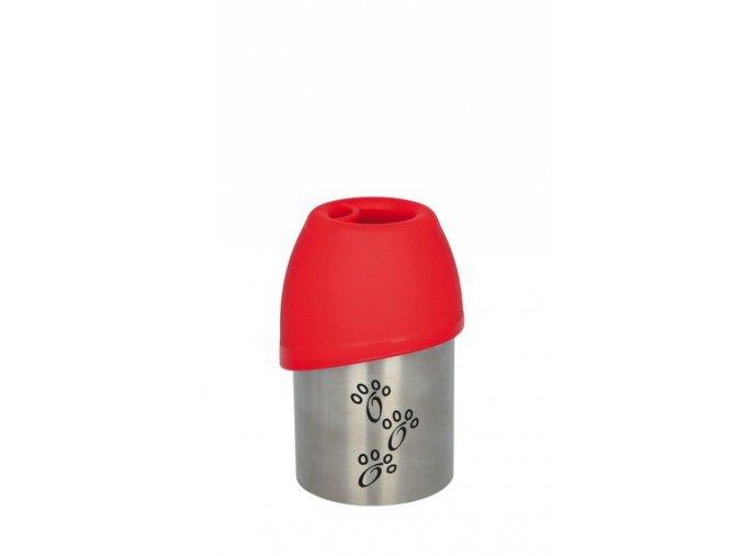 Láhev kovová s plastovou miskou 300 ml