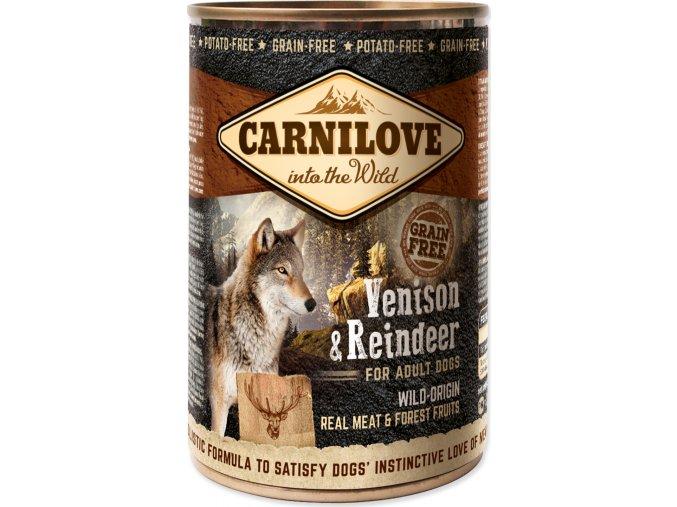 Konzerva CARNILOVE Dog Wild Meat Venison & Reindeer 400g