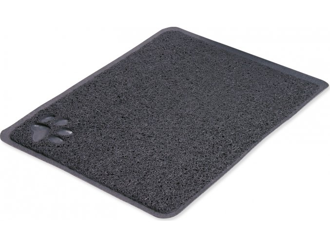 Předložka PVC s tlapkou, šedá k WC 45 x 37cm TR