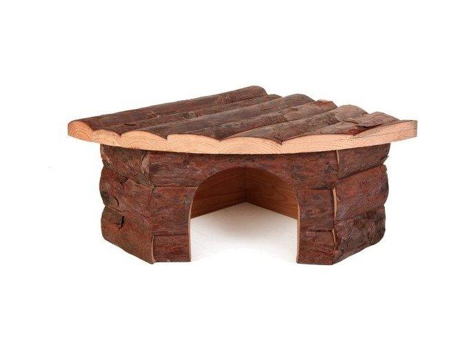 Dřevěný dům rohový JESPER pro morče 32x13x21/21cm