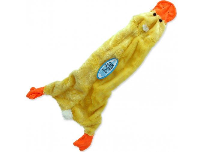 Hračka DOG FANTASY Skinneeez návlek na láhev kachna 60 cm 1ks