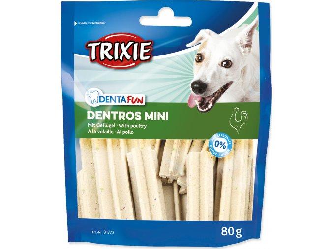 Denta Fun DENTROS MINI Light - tyčinky na čištění zubů 80 g