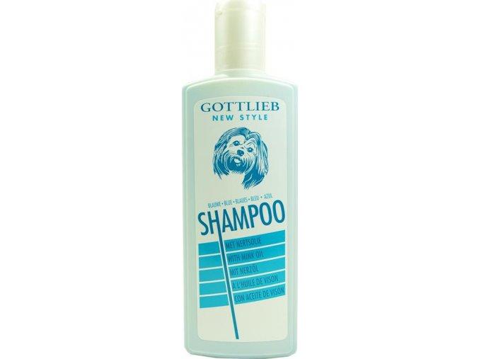 Gottlieb Blue šampon 300ml - vybělující s makadamovým olejem