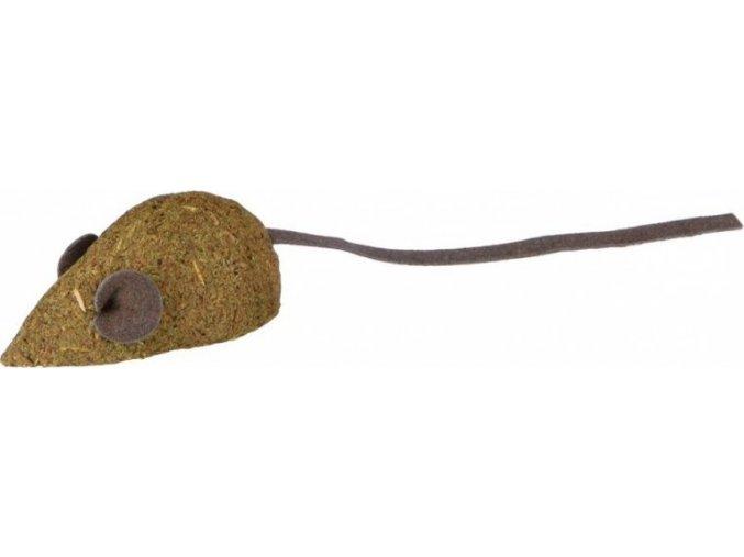 Catnipová myš bez rolničky, vyrobeno z catnipu 5 cm (2ks)