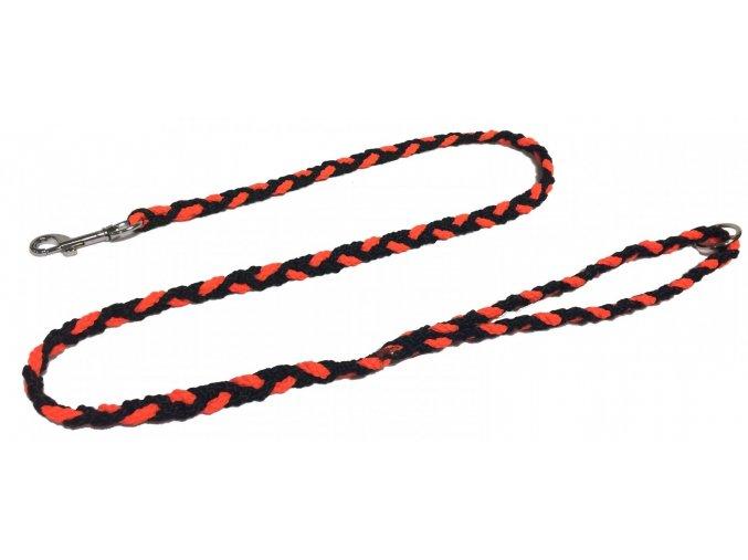 Vodítko COP slabé neon oranžovo-černé 1,2m