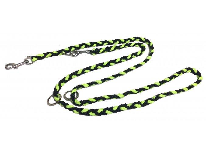 Vodítko COP slabé neon zeleno-černé 1,2m
