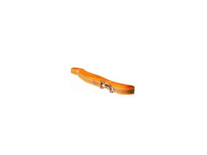 Vodítko popruh pogumovaný 2x150cm oranžový