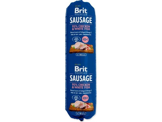 Salám BRIT Premium Dog Sausage Chicken & White fish 800g