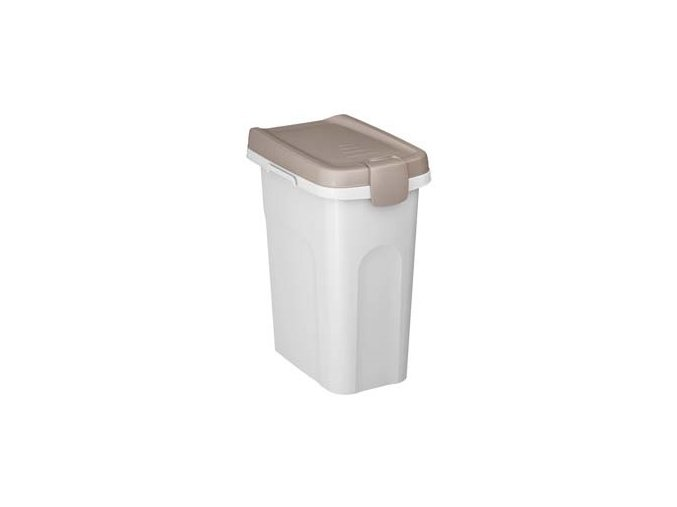 STEFANPLAST Pet food Container 33x22x41cm 15l bílý/šedý barel na 6kg granulí