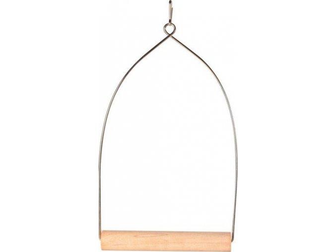 Dřevěná houpačka závěsná 8x15 cm