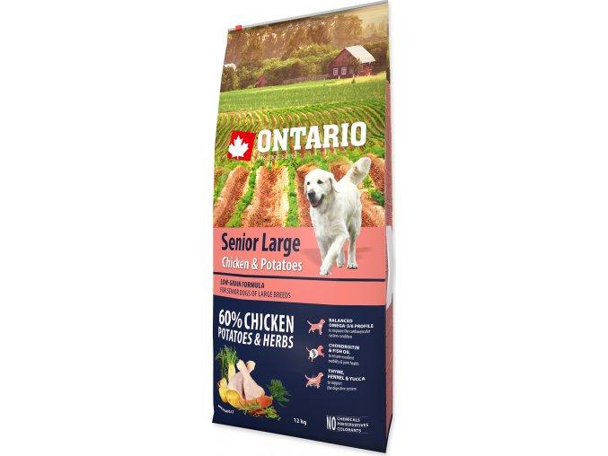ONTARIO Senior Large Chicken & Potatoes & Herbs 12kg