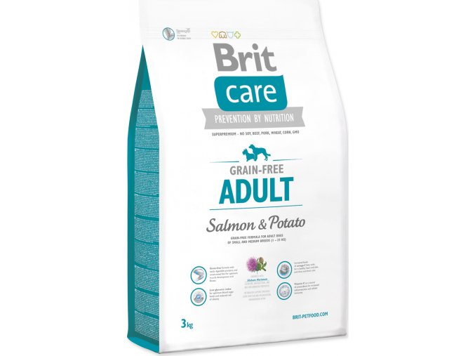 Brit Care Grain Free Dog Adult Salmon & Potato 3 kg