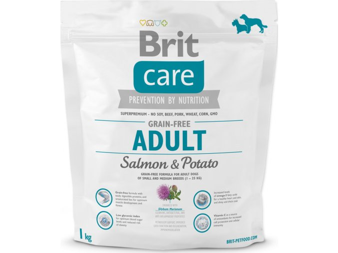 Brit Care Grain Free Dog Adult Salmon & Potato 1 kg