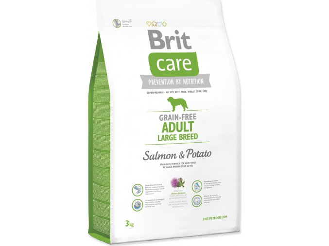 BRIT Care Dog Grain-free Adult Large Breed Salmon & Potato 3kg