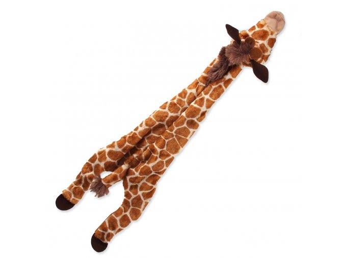 Hračka DOG FANTASY Skinneeez žirafa 57,5 cm 1ks