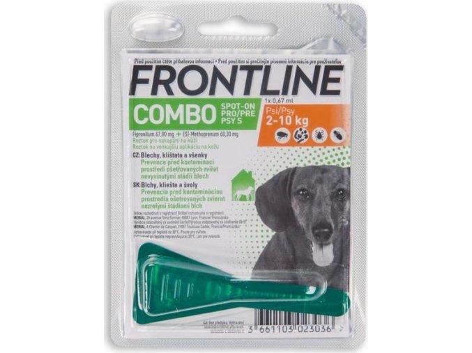 Frontline Combo spot-on dog S 2 do 10 kg 1 x 0,67 ml