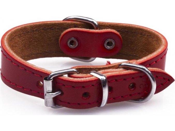 Obojek kůže FIDO Červená B&F 2,2 x 30cm