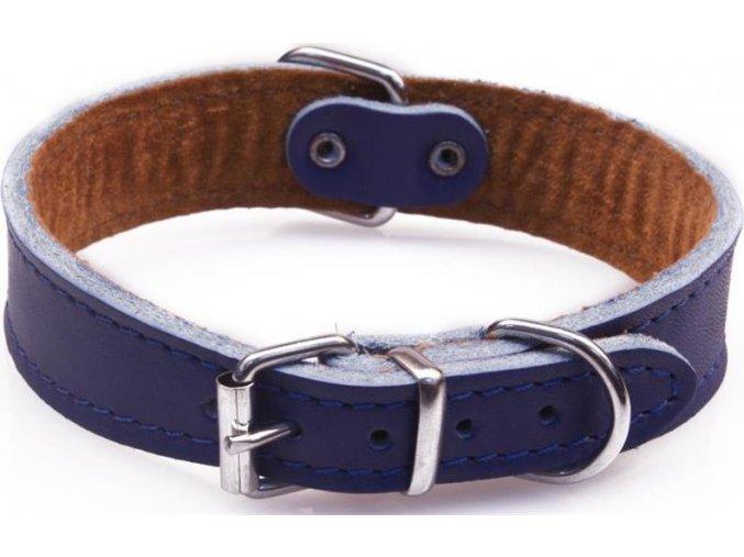 Obojek kůže FIDO Modrá B&F 2,6 x 40cm