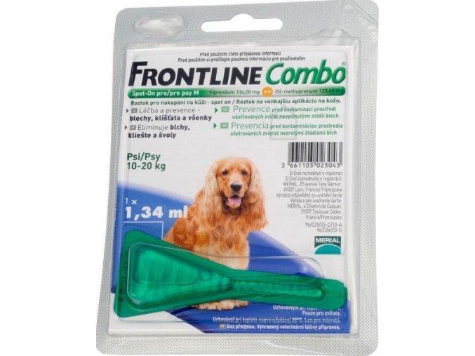 Frontline Combo spot-on dog M 10 do 20 kg 1 x 1,34 ml