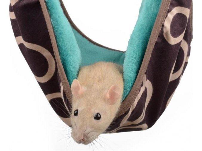 Pelech potkan,fretka loďka Max hnědo-zelený 30 x 30 cm