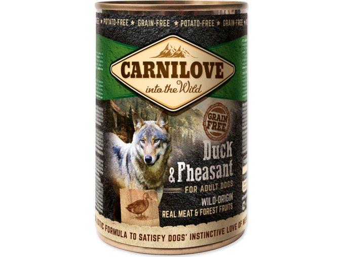 Konzerva CARNILOVE Dog Wild Meat Duck & Pheasant 400g