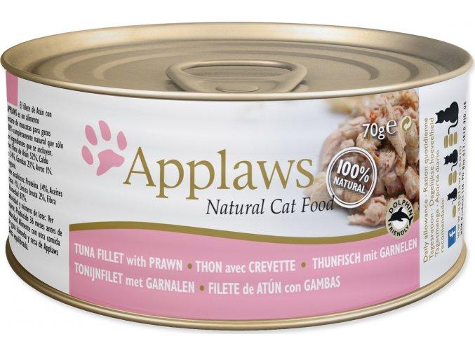 Konzerva APPLAWS Cat Tuna Fillet & Prawn 70g
