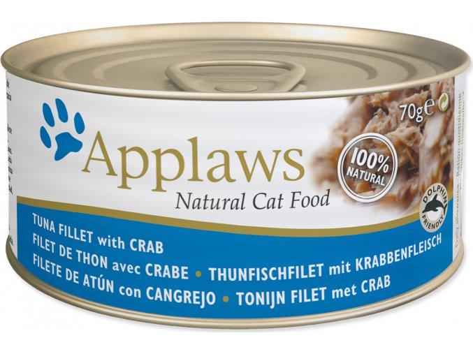 Konzerva APPLAWS Cat Tuna & Crab 70g