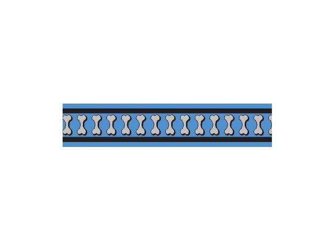 Obojek RD 25 mm x 41-63 cm - Bones Rfx- Stř. Modrá