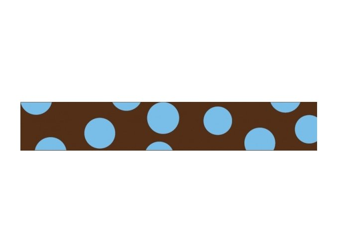 Obojek RD 25 mm x 41-63 cm - Blue Spots on Brown