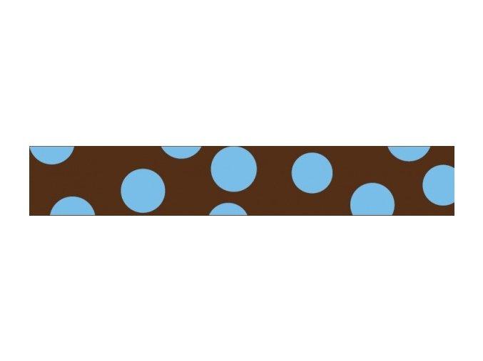 Obojek RD 15 mm x 24-37 cm - Blue Spots on Brown
