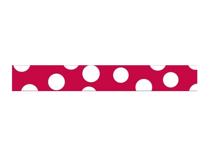 Obojek RD 15 mm x 24-37 cm - White Spots on Red