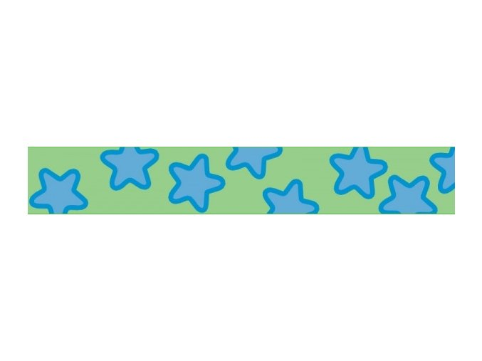 Obojek RD 20 mm x 30-47 cm - Stars Turquoise