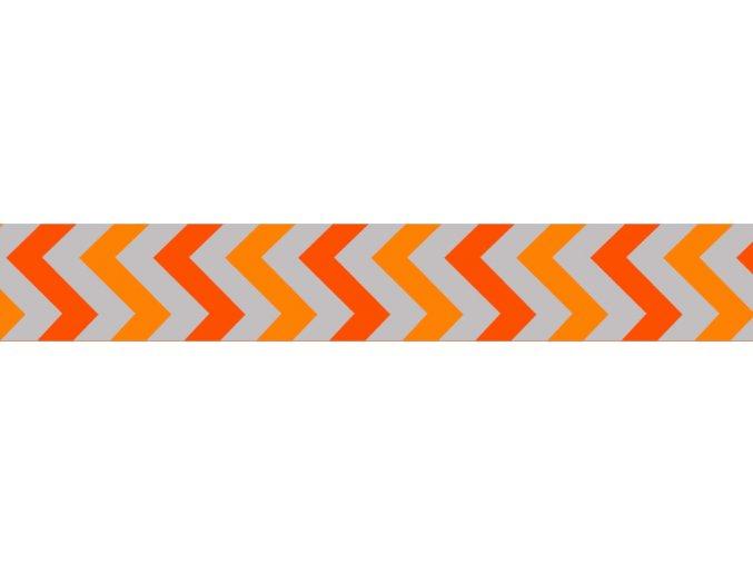 Obojek RD 25 mm x 41-63 cm - Ziggy Rfx - Oranžová