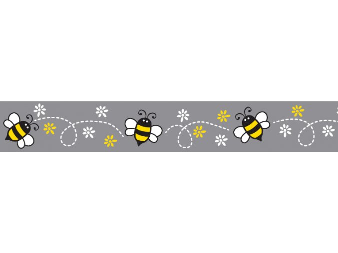 Obojek RD 25 mm x 41-63 cm - Bumble Bee Black