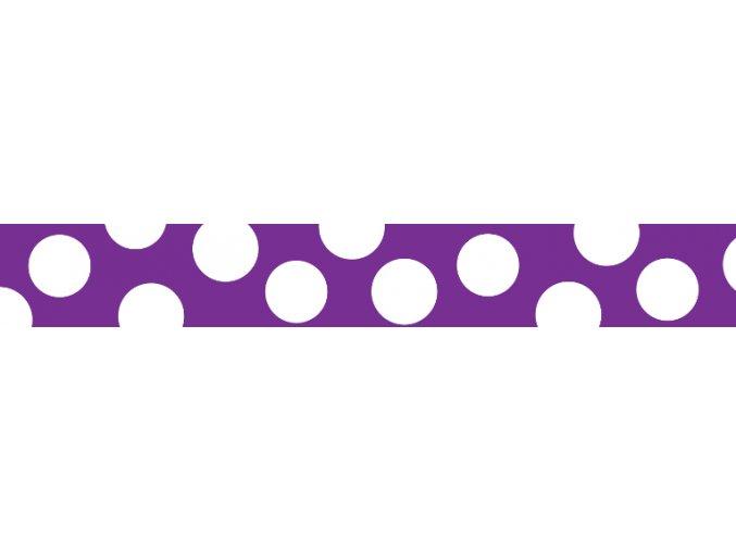 Obojek RD 25 mm x 41-63 cm - White Spots on Purple