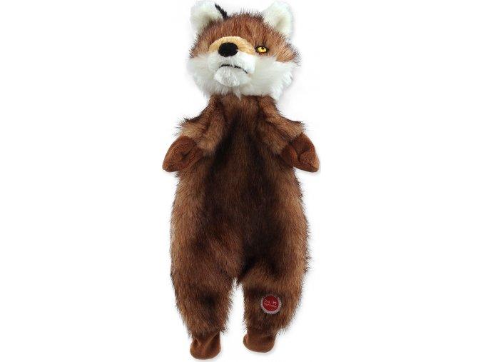 Hračka DOG FANTASY Skinneeez liška plyšová 34 cm 1ks