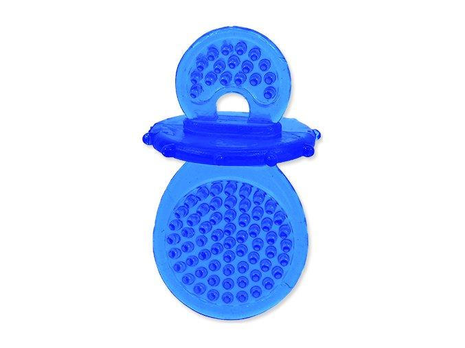Hračka DOG FANTASY dudlík gumový modrý 8 cm 1ks