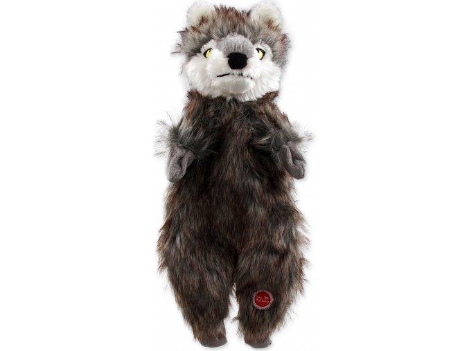 Hračka DOG FANTASY Skinneeez vlk plyšový 34 cm 1ks