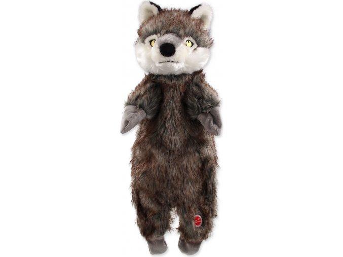 Hračka DOG FANTASY Skinneeez vlk plyšový 50 cm 1ks