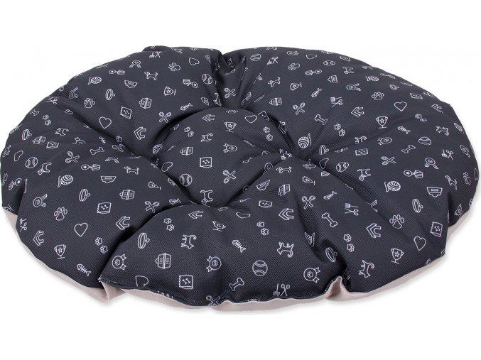 Polštář DOG FANTASY piktogram mix šedý 92 cm 1ks